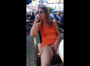 French mature lady showcasing trimmed..
