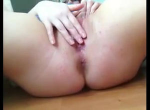 Immense female get pearly climax from..