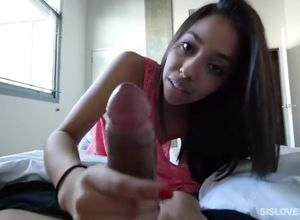 Stepsister Jasmine helping forearm to..