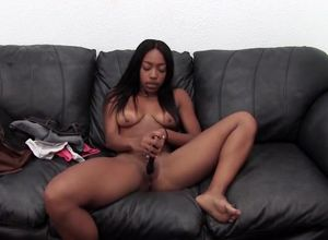 Huge-titted dark-hued  to produce a..
