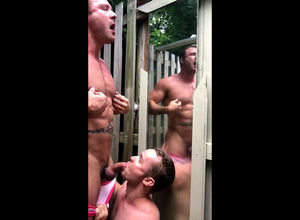Fag stud gets killer Oral pleasure in..