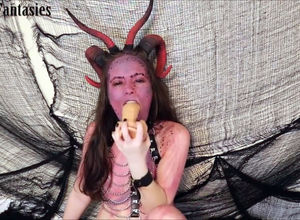 Teenager succubus gets oral internal..