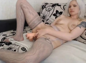 unexperienced webcam-model jizzes with..