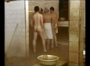 Naked Russian fellows doing each other..