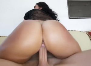 Pretty nubile Ava Alvares has thick..