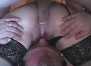 Wifey taking hard-on in  when husband..