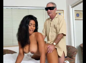 Big-chested dark-hued nurse Jenna Foxx..