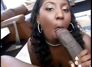 Thick bumpers dark-hued cockslut..