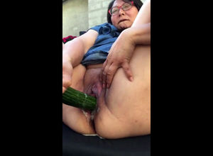 This hefty mature frolicking for the..