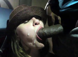 Milky fuckslut deep-throat Big black..