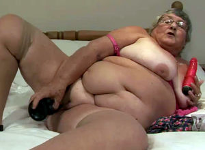 Fatty grannie still wild and want to..